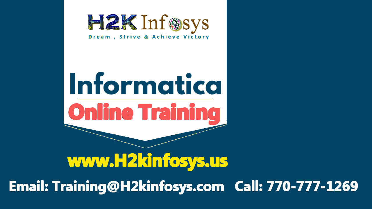 Informatica Online Training and Job Placement...