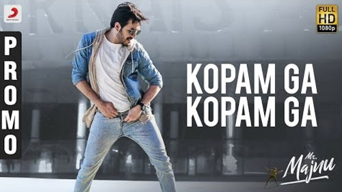mr majnu movie kopam ga song promo