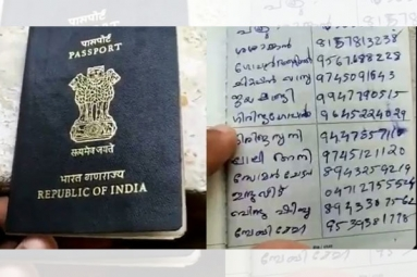 Kerala Woman Turns Husband's Passport into Phone Directory and Grocery List