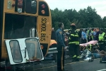 NJ School Bus Carrying 42 Home From Outing Overturns in Possible Hit-and-Run Crash